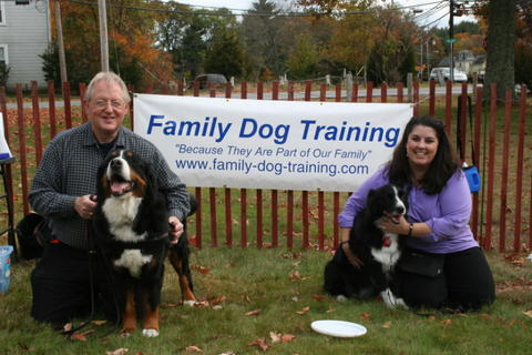 paul and bridget with FDT sign Certified Dog Trainers